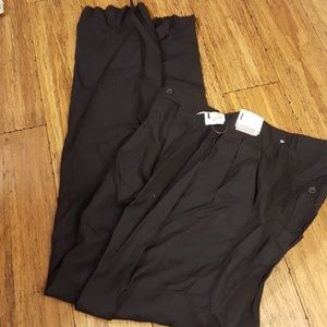 Hickey  Freeman men's black dress slacks